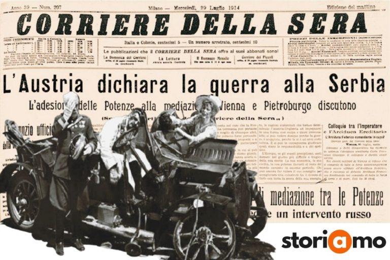 La dichiarazione di guerra alla Serbia, l'alba della Prima Guerra Mondiale
