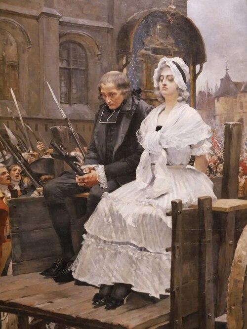 Maria Antonietta condotta al patibolo, François Flameng (1885)