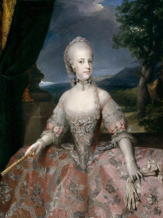 Maria Carolina d'Austria, Anton Raphael Mengs (1768), Museo del Prado, Madrid