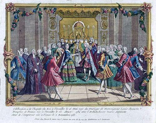 Matrimonio di Maria Antonietta e Luigi XVI a Versailles