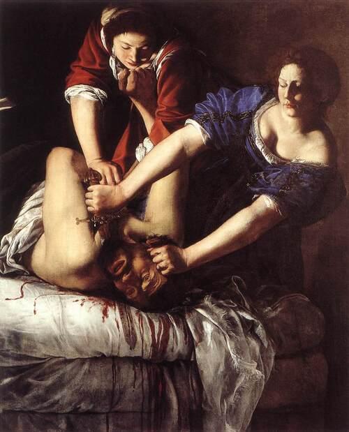 Giuditta che decapita Oloferne, Artemisia Gentileschi