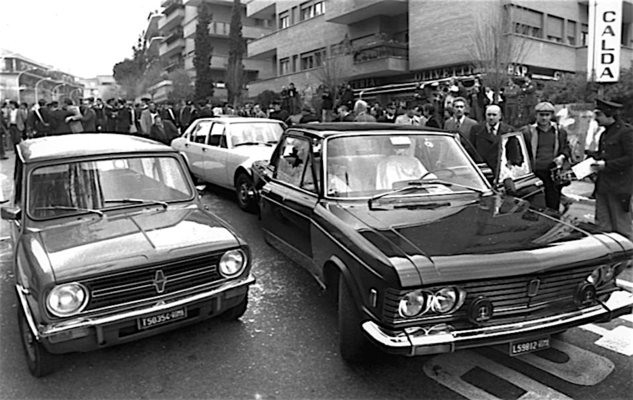 Strage di via Fani: l'auto su cui viaggiava l'On. Aldo Moro