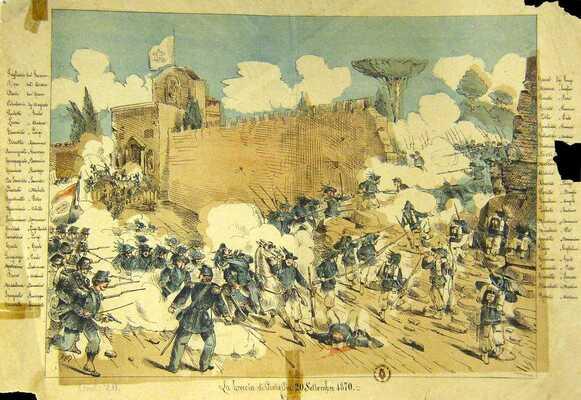 La Breccia di Porta Pia 20 settembre 1870