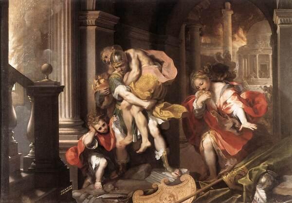 Fuga di Enea da Troia, Federico Barocci (1598)