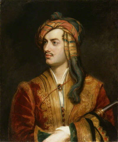 Lord Byron in Albanian dress, Thomas Phillips (1813)