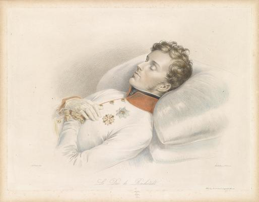 Napoleone II sul suo letto di morte, Franz Xaver Stöber