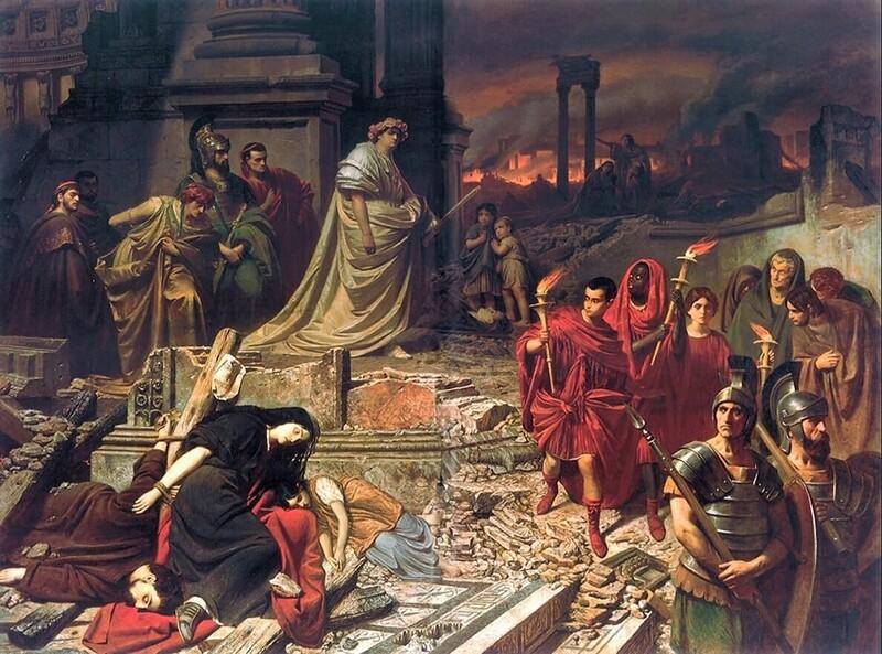 Nerone e il grande incendio di Roma, Karl Theodor von Piloty
