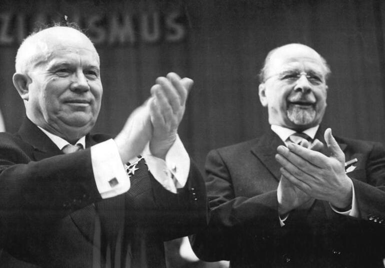 Nikita Chruščëv e Walter Ulbritcht