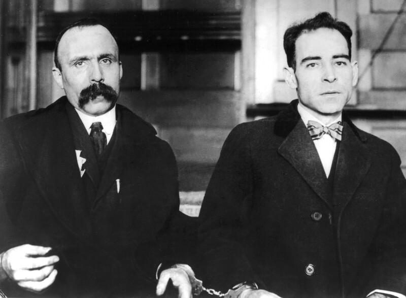 Bartolomeo Sacco e Nicola Vanzetti in manette